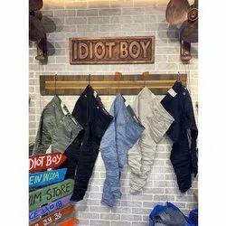 Idiot Boy Regular Fit Mens Plain Trouser, Size: 30 - 36