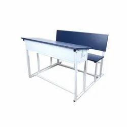 Mild Steel Dual Desk for School