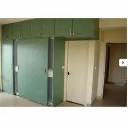 Shree Interior 4 Green Wooden Wardrobe, Size/Dimension: 8-9 Feet Height