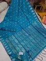 Ladies Handloom Jamdani Work Cotton Silk Saree