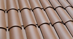 Clay Brown roofing tiles