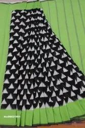 IKKaT TIE aND DY E a Ikkat Cotton Saree, Hand, 6.3 m (with blouse piece)