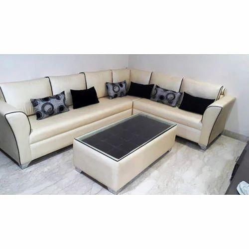 L Shape Leather Sofa Set, Sofa Sets | Janakpuri, Delhi ...