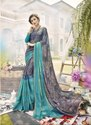 Designer Chiffon Brasso Party Wear Viscous Saree