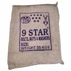 Printed Brown Fastener Jute Bag, Capacity: 50 Kg