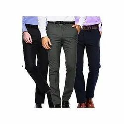 Men Plain Trousers