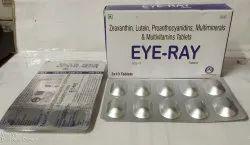 Zeaxanthin 2 MG, Lutein 10 MG , Proanthocyanidine 50 MG , Zinc 12 MG , Magnesium 55 MG , Copper 2mg