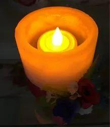 White LED Tea Light Candle, Shape: Round