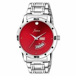 Jainx Red Dial Day and Date Function Analog Watch for Men JM347