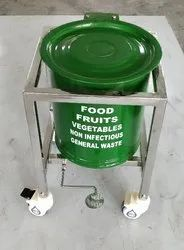 Single bin trolley  stainless steel