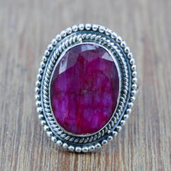 925 Sterling Silver Jewelry Ruby Gemstone New Ring