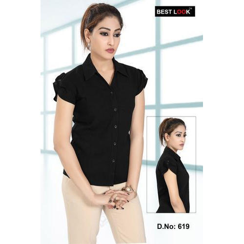 a39b492b18217c Black Synthetic Women Formal Shirt, Rs 450 /piece, V.M. Apperal | ID ...