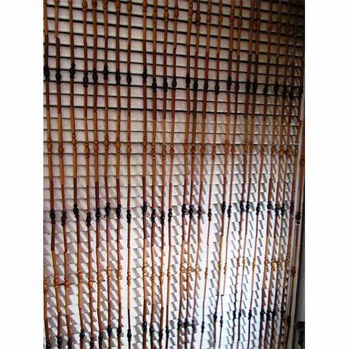 printed beaded curtains rs 600 piece shree om handloom. Black Bedroom Furniture Sets. Home Design Ideas