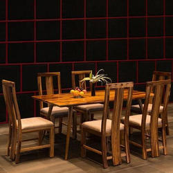 Brown Six Seater Wooden Dinning Table Set