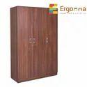 Ergonna Rectangular 3 Door Wooden Office Cuboard