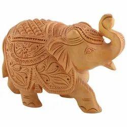 Wooden Elephant Animal Figures