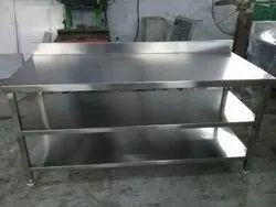 Polished Steel Work Table, For Hotel, Size: 44 Inch