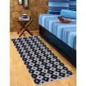 Black And White Diamond Design Cosmorugs Antiskid Bed Side Runner, Size: 2x5 Feet