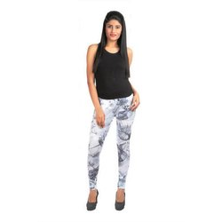 Cotton Lycra Straight Fit Printed Leggings, Size: XL and XXL