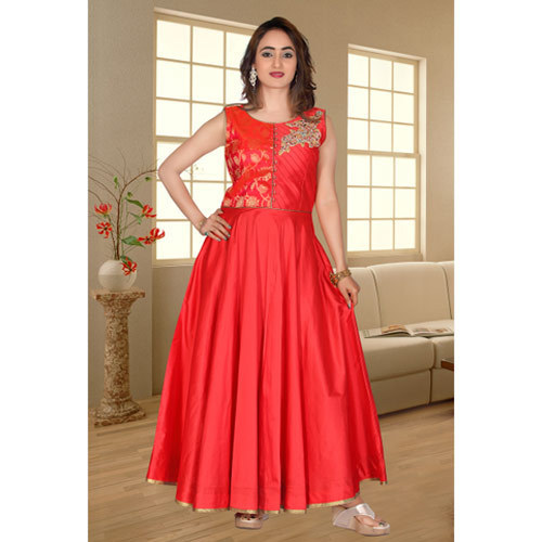 bbcfa1ea98f Satin Women Ladies Fancy Gown, Rs 1495 /piece, Shreya Apparel | ID ...