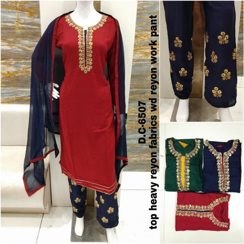 d6a37fbc2c Handwork Party Wear Ladies Uppada Silk Dress Material, Rs 1399 ...