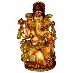 Resin Culture Marble Fimo Ganesha Statue