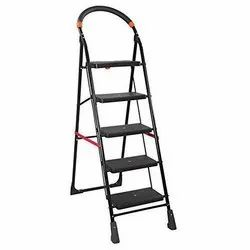 Parasnath Black 5 Steps Folding Ladder with Wide Steps