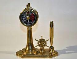 Nautical Telegraph And Wheel Compass Pen Holder
