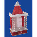 Red & White Aum Led Light Temple