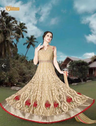Light Yellow Trendy Exclusive Anarkali Suits 4908