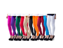 Cotton Lycra Pack Of 10 Churidar Leggings