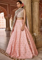 Blush Peach Designer Silk Lehenga Choli