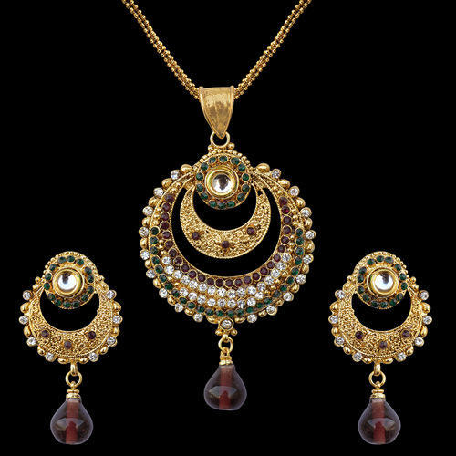 Original kundan jewelry indian kundan gold necklace manufacturer polki gold pendant set aloadofball Choice Image