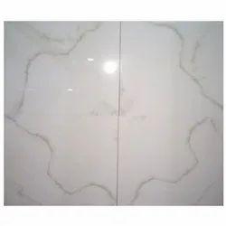 Glossy White Floor Tiles, 600 mm x 600 mm