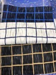 Printed Cotton Satin Shirting Fabric, GSM: 50-100