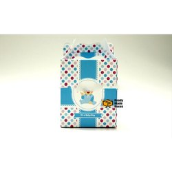 Baby Boy Announcement Designer Cake Box