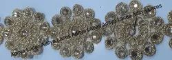 9 Meter Silver Cut Work Lace