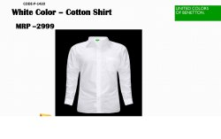 Cotton Full Sleeve UCB Corporate Executive Shirts