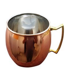 Plain Moscow Mule Copper Mug With Brass Handle