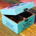 Pink Knots Multicolor Tea Box, For Gifting, Size: 6x6x4
