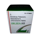 Diclofenac Potassium, Paracetamol & Chorzoxazone Tablets