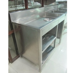 Stainless Steel Commercial Food Display Counter, Height: 6 Feet
