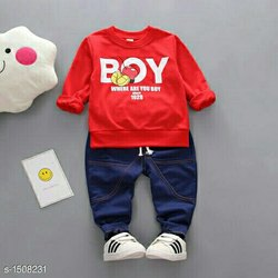 Red Cotton Kids Wear nu, Age: 1-2 Years