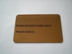 Stainless Steel Rose Polish Sheets