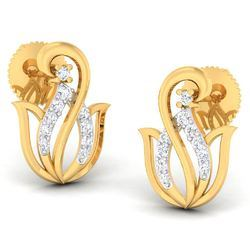 Fancy Diamond Gold Earrings
