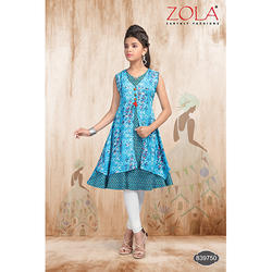 Printed Sleeveless Attractive Baby Salwar Suit, Size: XL