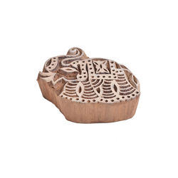 Elephant Shape Wooden Henna Printing
