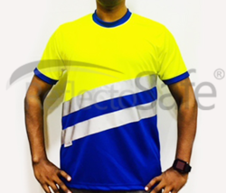 Reflective High Visibility T Shirts with 3M Scotchlite Tape (Round Collar - Royal Classic)