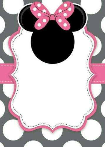 Minnie Mouse Birthday Invitation Card