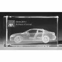 3D Laser Engraved Glass Motive